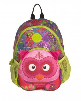 wildpack junior Kinderrucksack mit Brustgurt - Eule