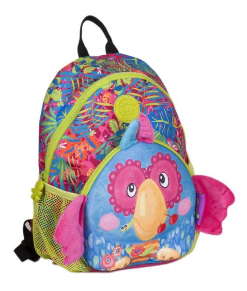 wildpack junior Kinderrucksack mit Brustgurt - Papagei