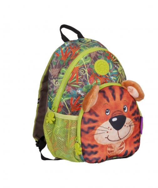 wildpack junior Kinderrucksack mit Brustgurt - Tiger